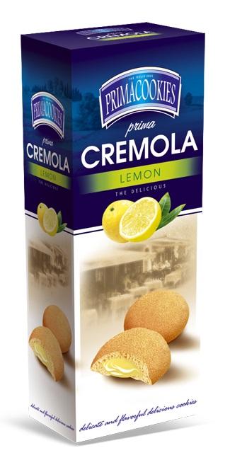 PRIMACOOKIES CREMOLA Biscuiti cu Crema de Lamaie 150g [0]