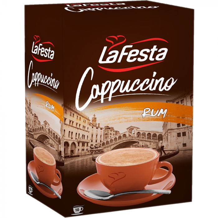 LA FESTA Cappuccino cu Gust de Rom 10x12,5g [2]