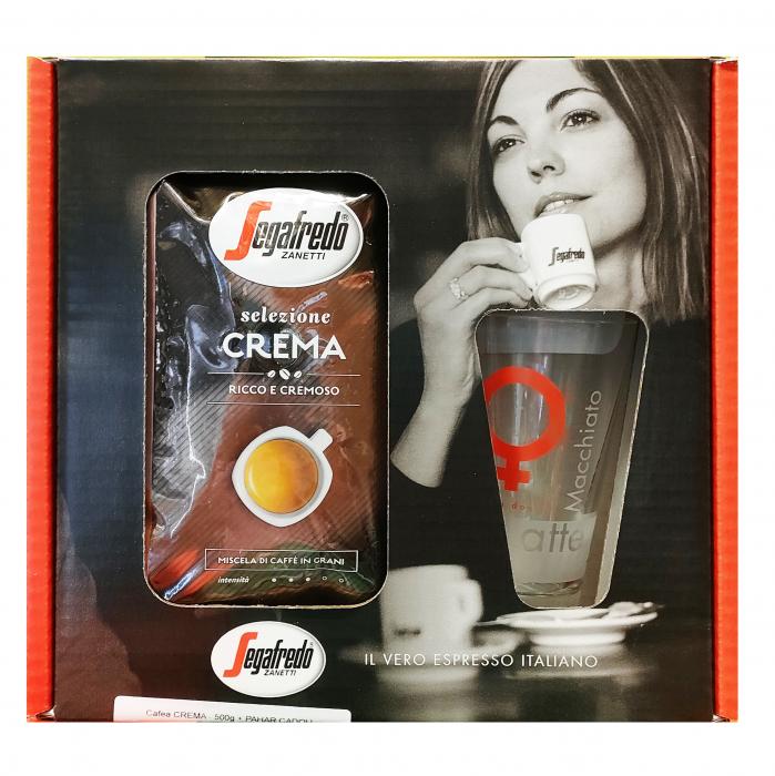SEGAFREDO Pachet Promo Selezione Crema Cafea Boabe 500g + Pahar [0]