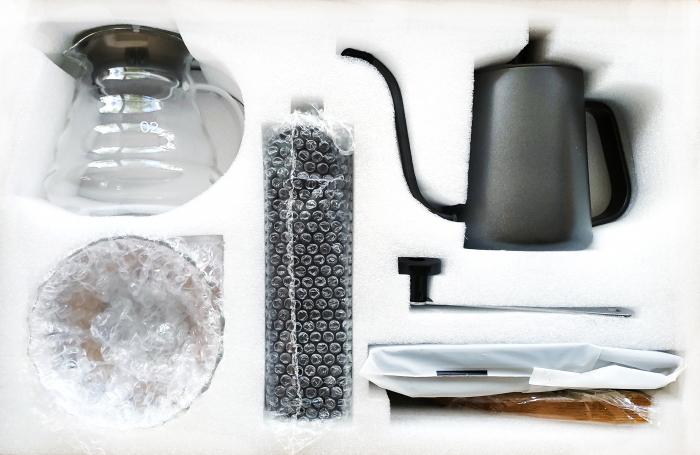 Set, Kit de Preparare a Cafelei V60 Pour Over cu Râșniță, Cantar, Capacitate Vas 500ml [3]