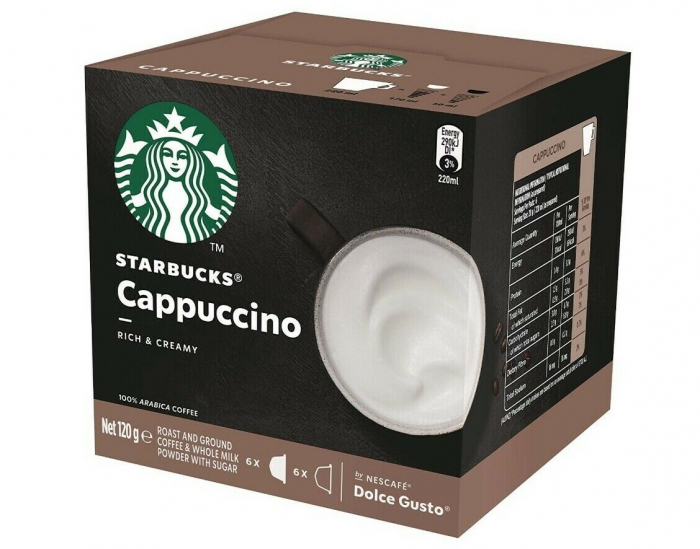 STARBUCKS Cappuccino Capsule Dolce Gusto 120g 6 bauturi [0]