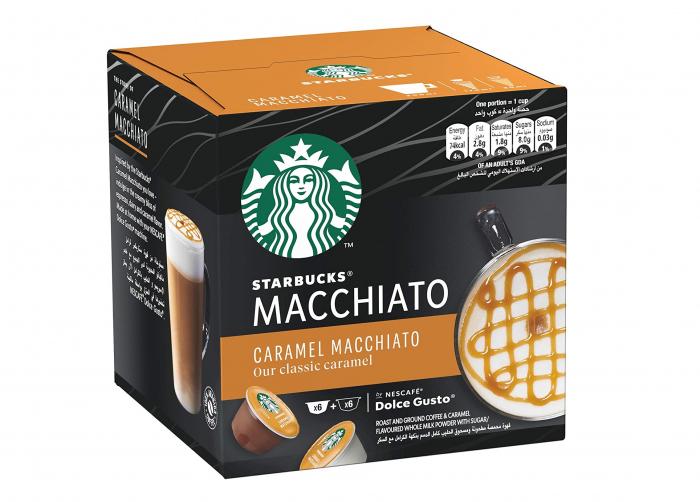 STARBUCKS Caramel Macchiato Capsule Dolce Gusto 128g 6 bauturi [0]