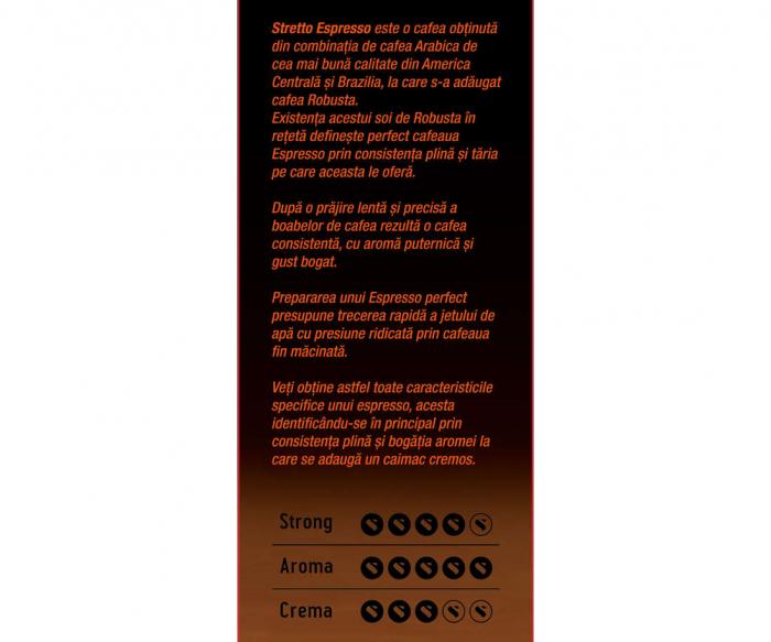 STRETTO Espresso Professional Cafea Boabe 1Kg [1]