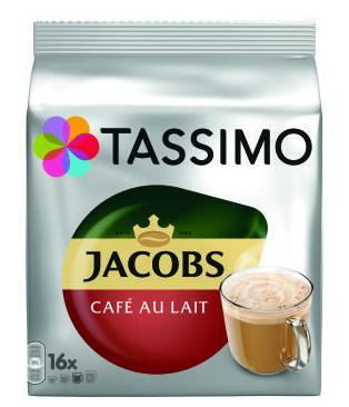 TASSIMO Jacobs Cafe Au Lait Capsule cu Cafea 16buc 184g [0]