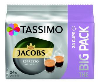 TASSIMO Jacobs Espresso Ristretto Capsule cu Cafea 24buc 192g - Pachet Mare [0]