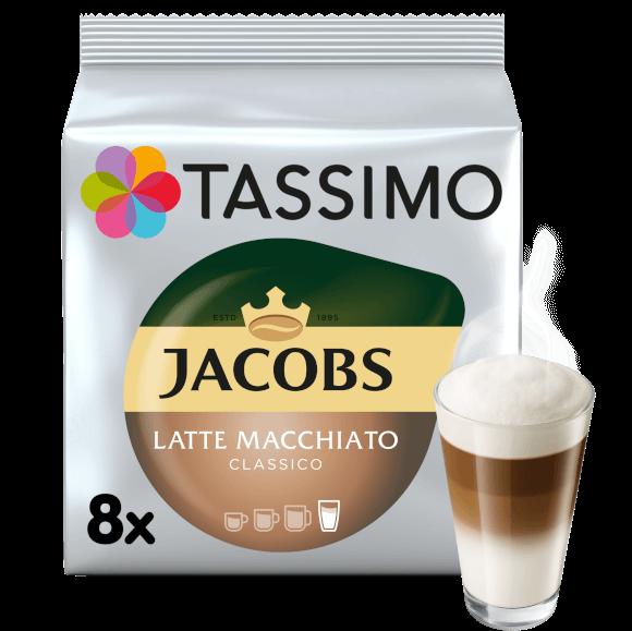 TASSIMO Typ Latte Macchiato Classico Capsule cu Cafea 16buc 8 bauturi [0]