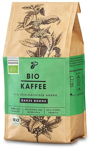 TCHIBO Cafea Boabe Bio KAFFEE Ganze Bohne 250g [0]