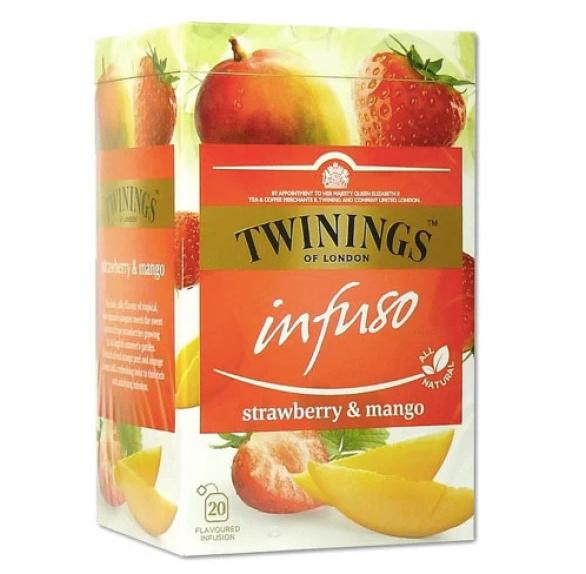 TWININGS Infuso Ceai cu Capsuni & Mango 20x2g [0]