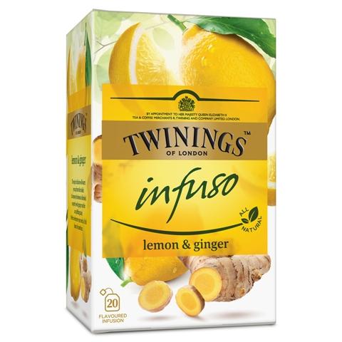 TWININGS Infuso Ceai cu Ghimbir & Lamaie 20x1.5g [0]