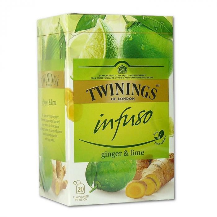 TWININGS Infuso Ceai cu Ghimbir & Lime 20x1.5g [0]