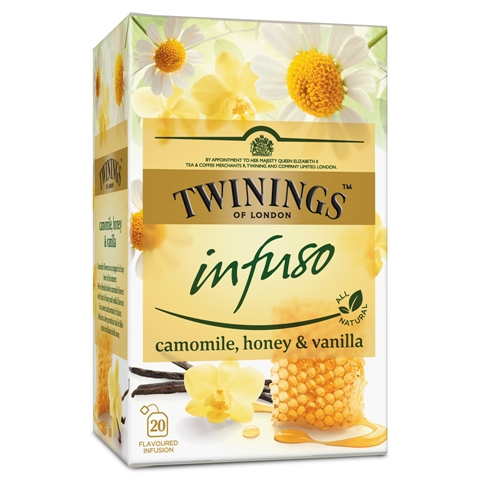 TWININGS Infuso Ceai cu Musetel, Vanilie si Miere 20x1.5g [0]