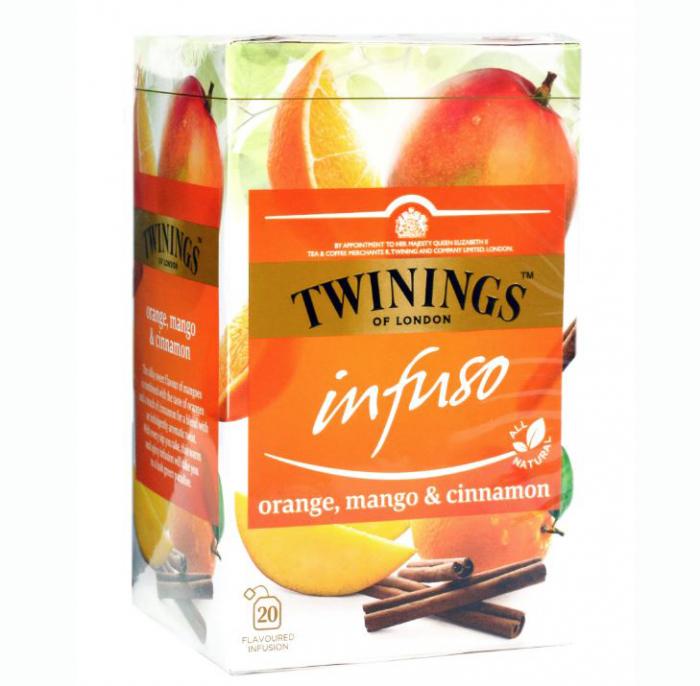 TWININGS Infuso Ceai cu Portocale & Mango & Scortisoara 20x1.5g [0]
