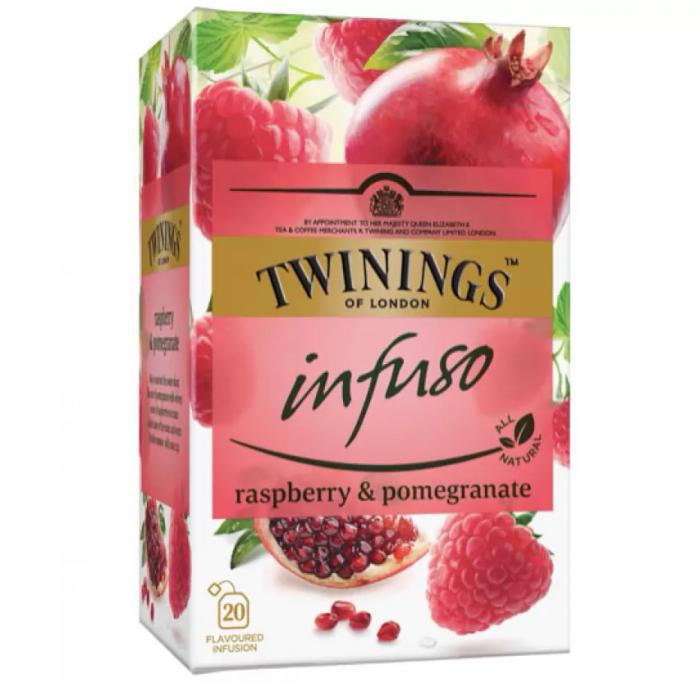 TWININGS Infuso Ceai Pomegranate & Raspberry - Rodie & Zmeura 20x1.5g [0]