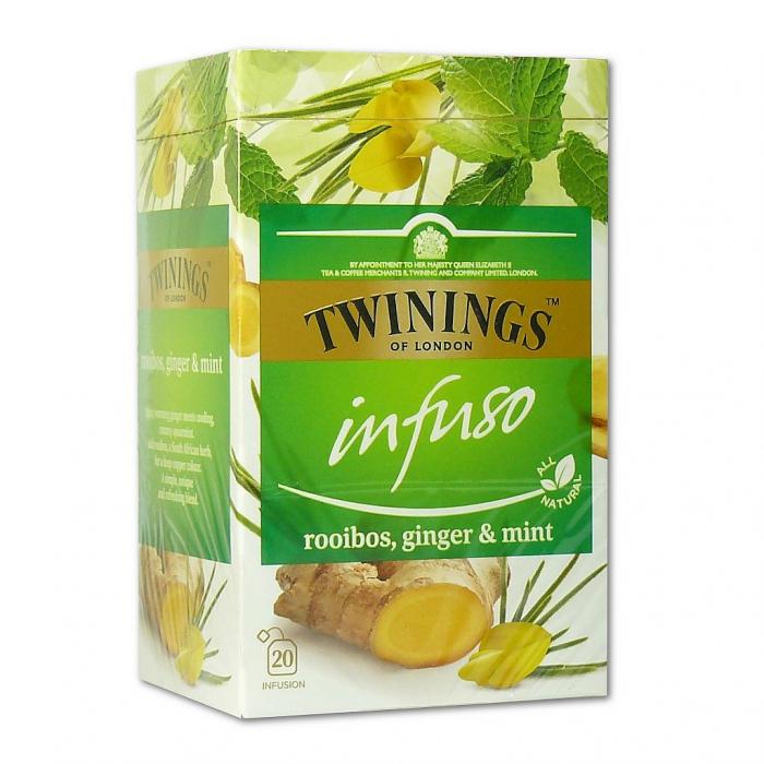 TWININGS Infuso Ceai Rooibos, Ghimbir & Menta 20x2g [0]