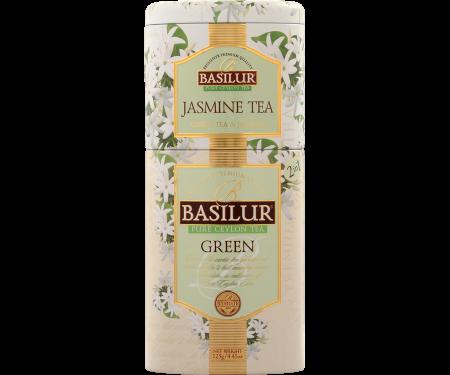 BASILUR Ceai Verde cu Iasomie in Cutie de Metal 125g [0]
