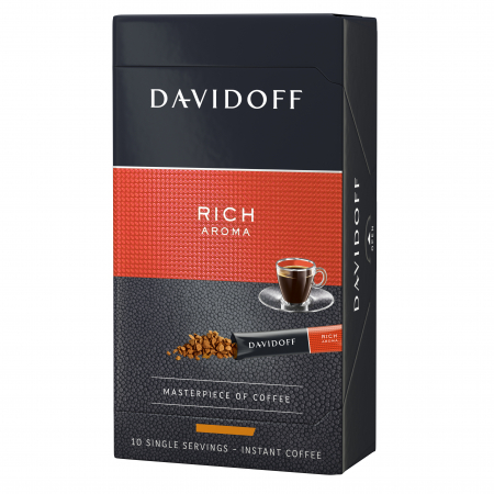 DAVIDOFF Rich Aroma Cafea Instant Sticks Cutie 10x1.8g