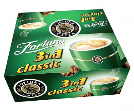 FORTUNA 3în1 Classic Amestec de Cafea Solubila Plic 24x15g [0]