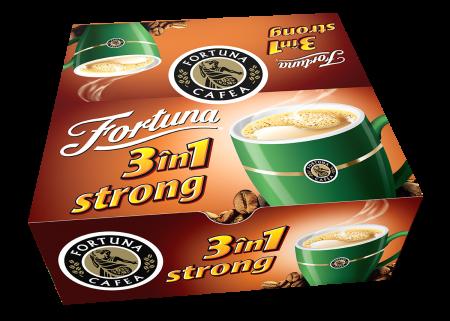 FORTUNA 3în1 Strong Amestec de Cafea Solubila Plic 24x17g [0]