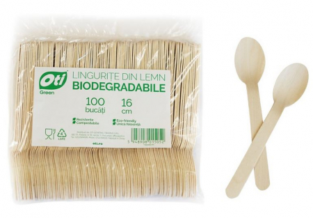 Linguri de Unica Folosinta din Lemn Eco Friendly Biodegrabile 15.7cm 100buc [2]