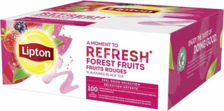 LIPTON Refresh Ceai Negru cu Fructe Rosii 100 plicuri [0]