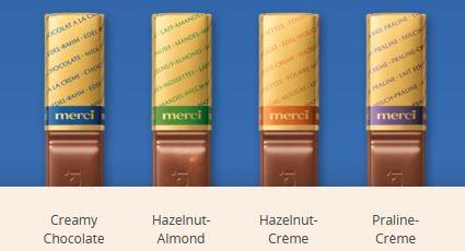 MERCI Mini Tablete de Ciocolata Asortata Cutie Albastra 250g [1]