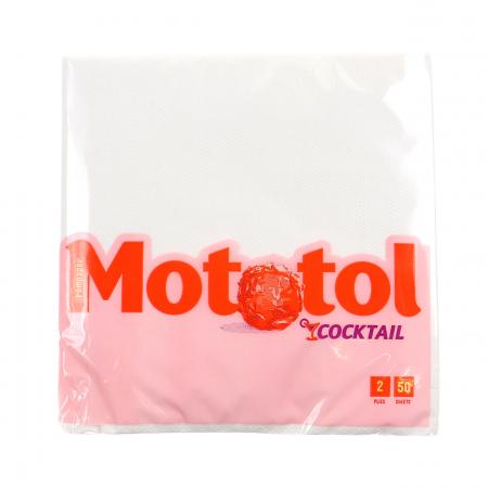 MOTOTOL Servetele Albe Mici 2 Straturi 24x24cm 50buc / set [0]