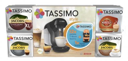 Pachet 12 cutii Capsule Cafea Tassimo + Cadou Espressor Bosch Tassimo Vivy II [0]
