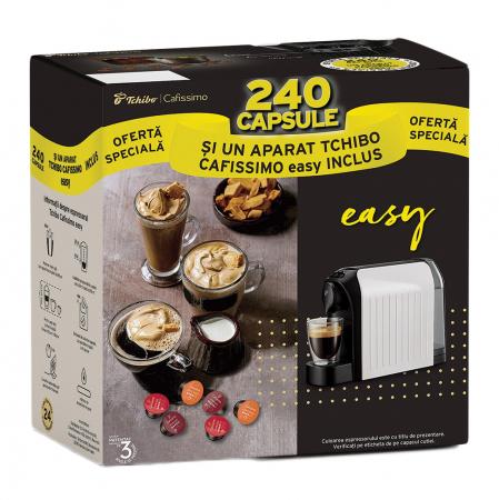 Pachet 12 cutii Capsule Cafea TCHIBO Cafissimo + Cadou Espressor TCHIBO Cafissimo Easy [0]