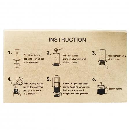 Presă de Aer pentru Prepararea Cafelei - Filtru de Cafea Espresso Manual, Portabil, Capacitate 300ml [10]