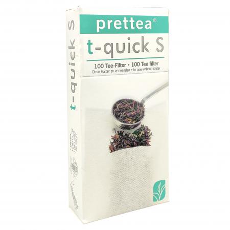 PRETTEA t-quick S Filtre de Unica Folosinta pentru Ceai 100buc [1]