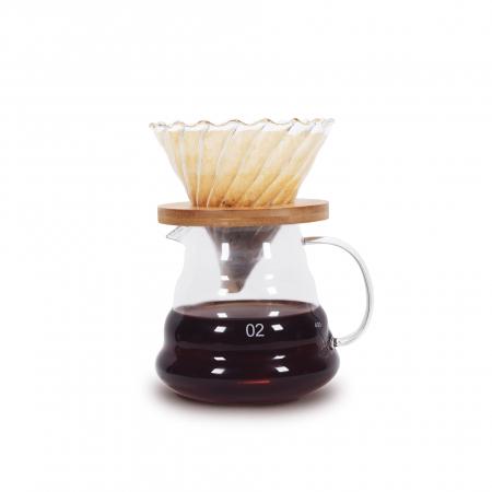 Set, Kit de Preparare a Cafelei V60 Pour Over cu Râșniță, Cantar, Capacitate Vas 500ml [5]