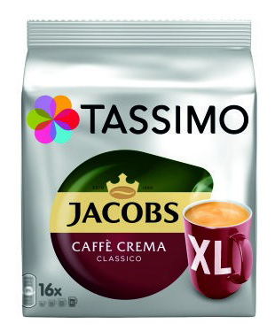 TASSIMO Jacobs Caffe Crema Classico XL Capsule cu Cafea 16buc 132.8g [0]