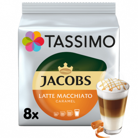 TASSIMO Typ Latte Macchiato Caramel Capsule cu Cafea 16buc 8 bauturi [0]