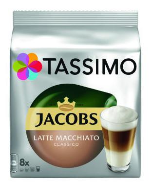 TASSIMO Typ Latte Macchiato Classico Capsule cu Cafea 16buc 8 bauturi [1]