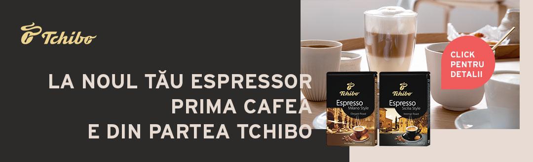 Cafea Tchibo gratis pentru orice espressor automat