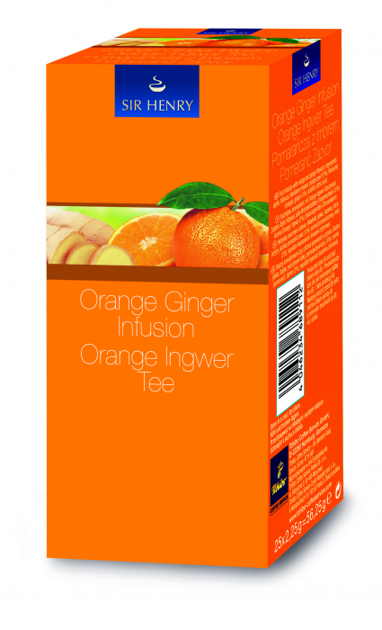 Ceai Sir Henry Orange Ginger, 25 plicuri 0