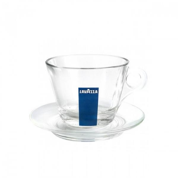 Set cesti + farfurii cafea sticla Lavazza Cappucino, 6 buc 0