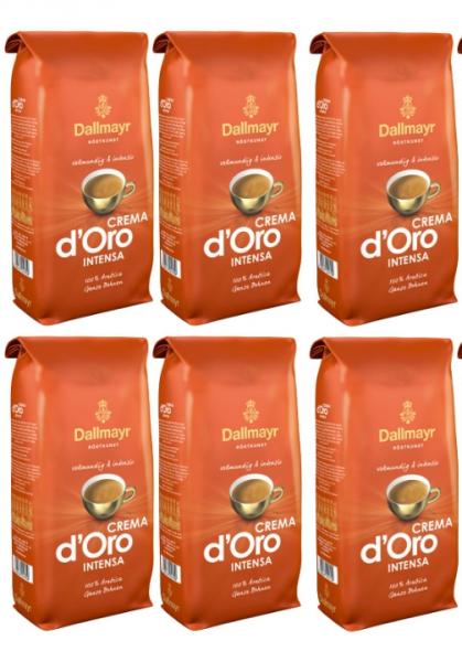 Pachet 6 x Cafea boabe Dallmayr Crema d'Oro Intensa, 1 kg 0
