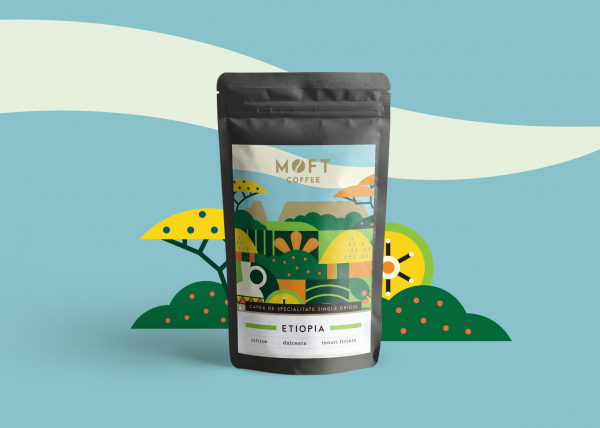 Cafea boabe Moft Etiopia, 500g 1