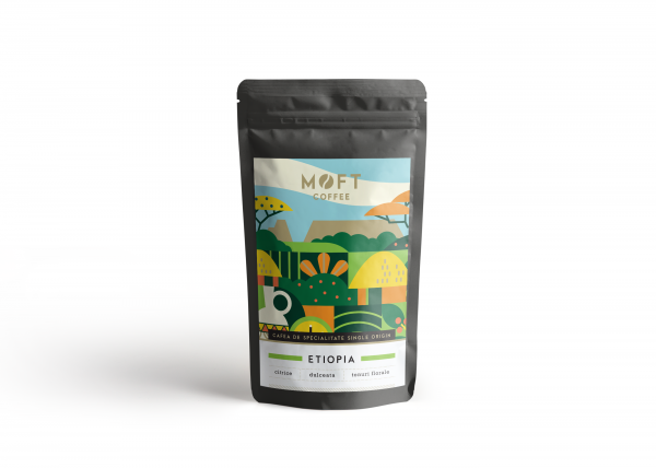 Cafea boabe Moft Etiopia, 500g 0