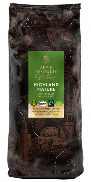 Cafea boabe organica Arvid Nordquist Highland Nature, 1kg 0