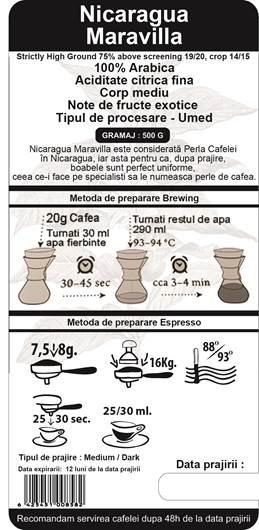 Cafea Proaspat Prajita The Coffee Shop Nicaragua, 500g 1
