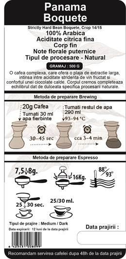 Cafea Proaspat Prajita The Coffee Shop Panama, 500g [1]