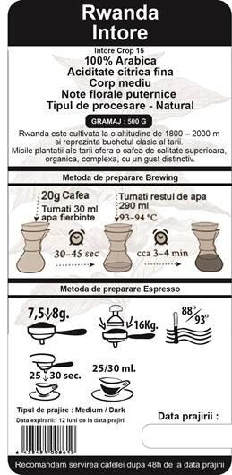 Cafea Proaspat Prajita The Coffee Shop Rwanda, 500g 1