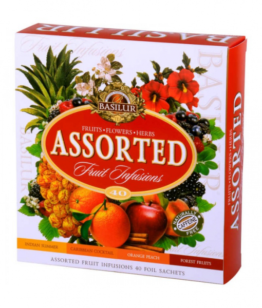 Ceai Basilur Fruit Infusions Assorted, 40 plicuri 1
