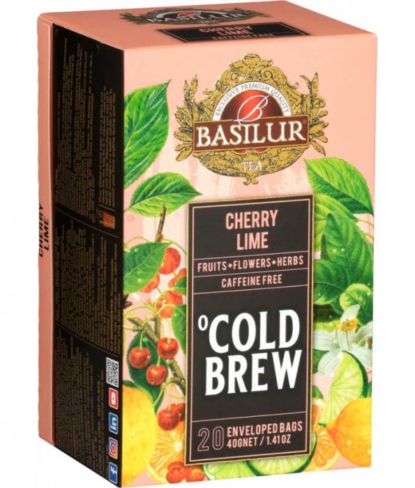 Ceai rece Basilur Brew Cherry si Lime, 20 plicuri [1]