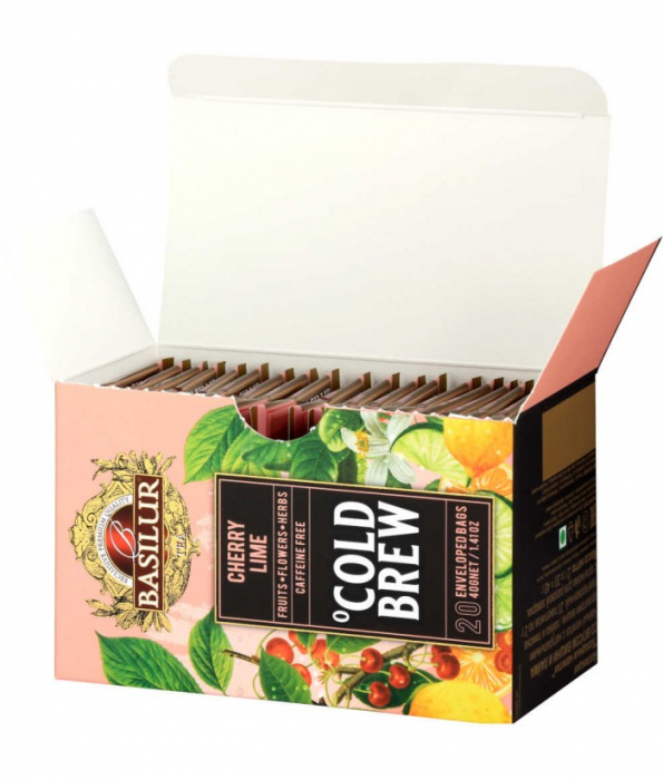 Ceai rece Basilur Brew Cherry si Lime, 20 plicuri [3]