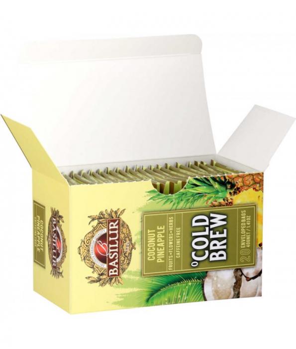 Ceai rece Basilur Brew Coconut-Pineapple, 20 plicuri [2]