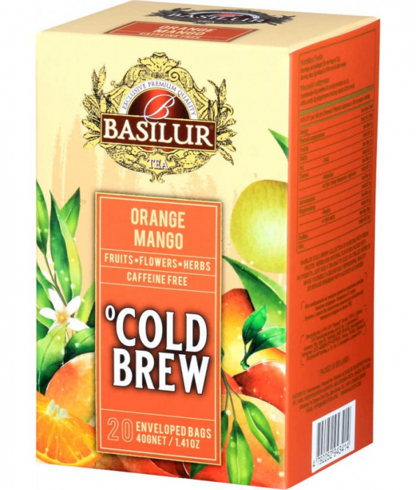 Ceai rece Basilur Brew Orange & Mango, 20 plicuri [0]