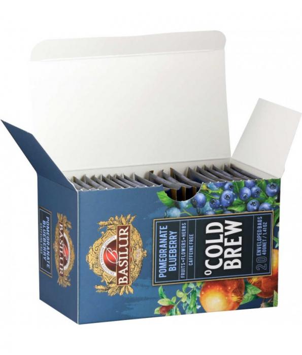 Ceai rece Basilur Brew Pomegranate Blueberry, 20 plicuri [2]